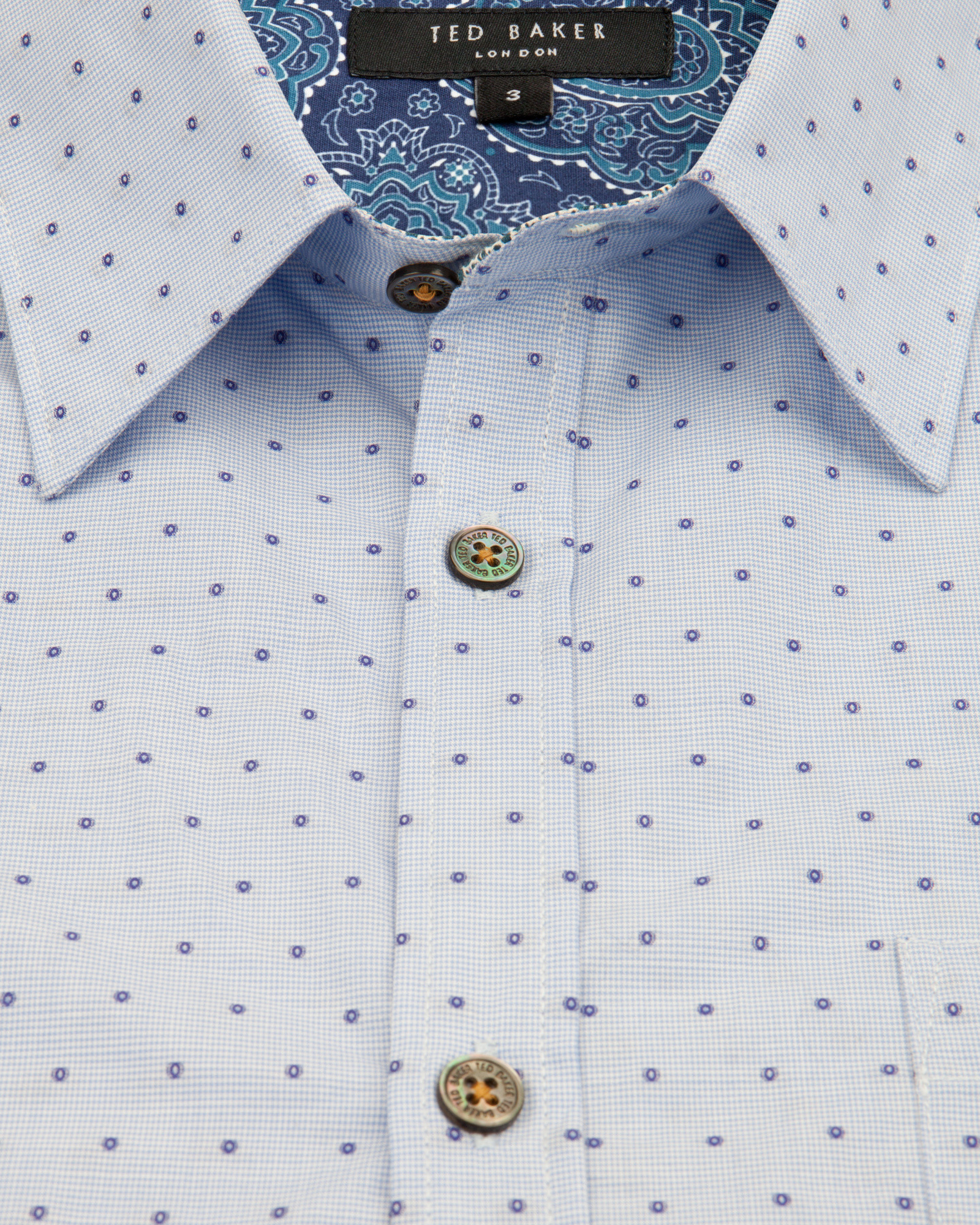 cb615a3d9212 Ted baker Cotton Fil Coupé Shirt in Blue for Men