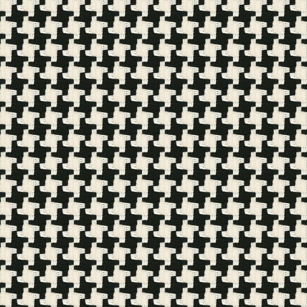 Black White Knit Houndstooth Fabric Great Scott