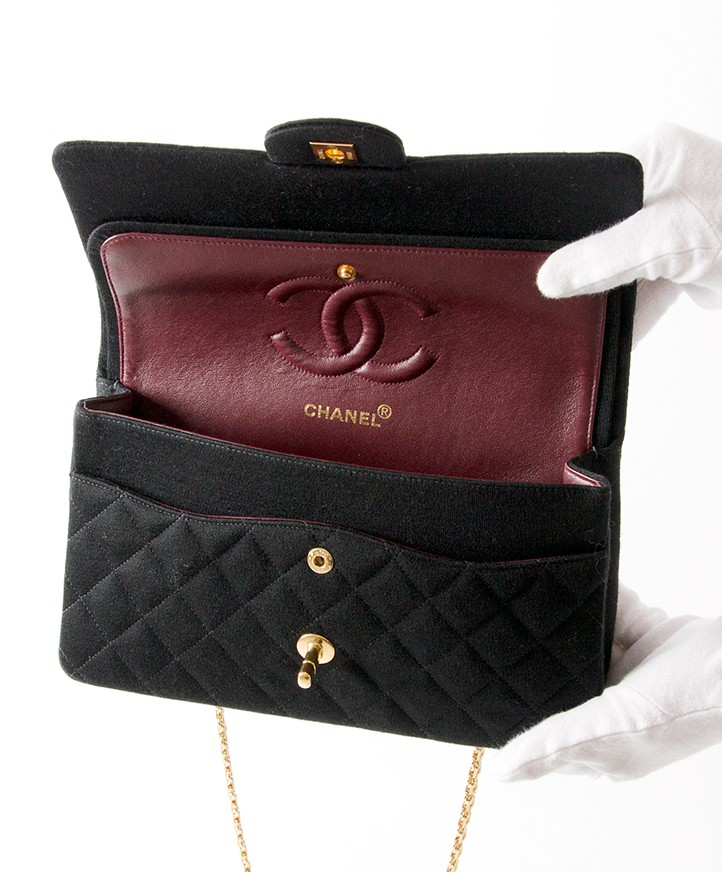 8ebb6753929a Labellov Chanel Medium Classic Flapbag in Fabric Buy and .