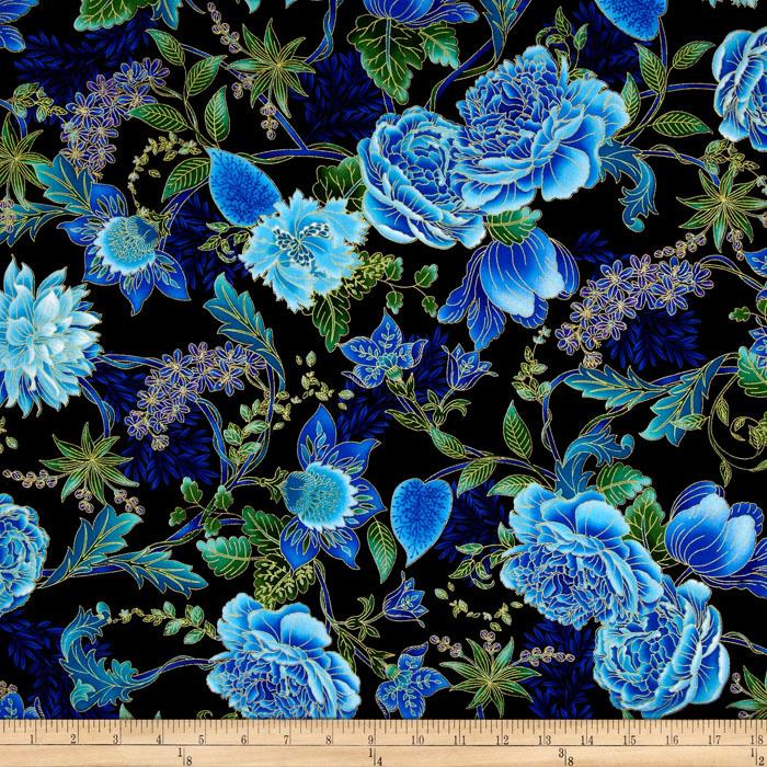 Asian Floral Fabric