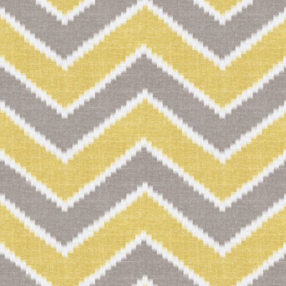 Yellow Gray And White Bedroom: Yellow And Grey Fabric