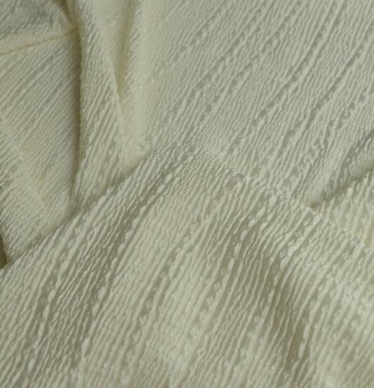 9d501fbc584 Ivory crinkle polyester Jersey Fabric