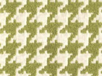 Houndstooth Moss Green And Ivory Clic Heavy